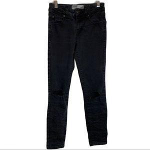 🔥Garage Distressed Short MidRise Skinny Jeans 01